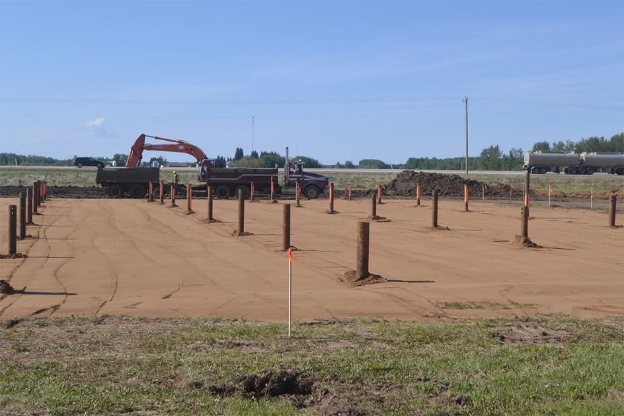 Construction activity at Peavey Mart site