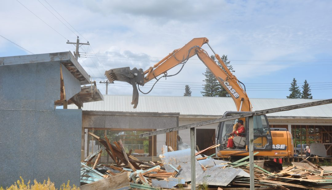 Walls come tumbling down at Richards Lumber